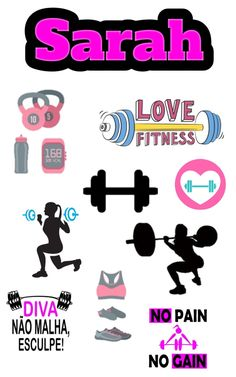 Academia Nail Stickers, Cute Stickers, Planner Stickers, Fitness Journal, Fitness Planner, Bolo Crossfit, Gym Cake, Diy And Crafts, Paper Crafts
