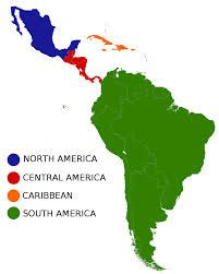 Map of Latin America. Latin America is made up of Mexico, Central ...