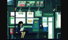 8 位元的日本日常生活 Gif 動畫 | 癮科技