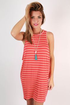 This tank dress is soft and comfortable and perfect for running around in!