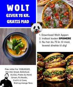 75 DKK free food from Premium Takeaway Startup Wolt!
