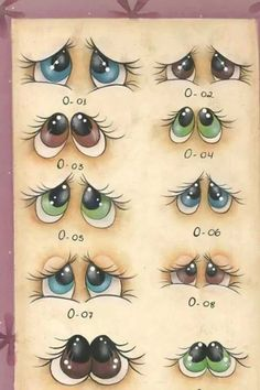 Painted Rocks – More than 300 Picture Ideas – Arts And Crafts – All DIY Projects Stone Painting, Painting & Drawing, Drawing Eyes, Figure Drawing, Rock Crafts, Arts And Crafts, Stone Crafts, Art Rupestre, Eye Expressions