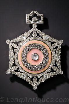 Vintage Jewelry Boucheron - A Belle Epoque platinum, guilloché enamel and diamond pendant watch. Cheap Jewelry, Modern Jewelry, Jewelry Gifts, Fine Jewelry, Yoga Jewelry, Jewelry Necklaces, Jewelry Accessories, Diamond Pendant Necklace, Diamond Jewelry