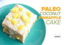 Made from coconut flour and topped with coconut icing and pineapple, this Paleo Coconut Cake with Pineapple is moist, fruity and delicious!