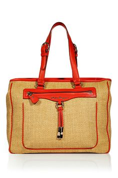 0d208773b10e SALVATORE FERRAGAMO -Orange Bi-Fabric Bag. Find more 2012 must-haves on  www.FashionLoveStruck.com
