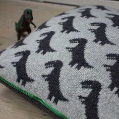 T-Rex knitted Cushion