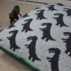T-Rex knitted Cushion