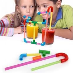 Fun Straws (120 pcs set)  //  a build-it-yourself crazy straw sounds amazing  #KIDS  #DIY #fun