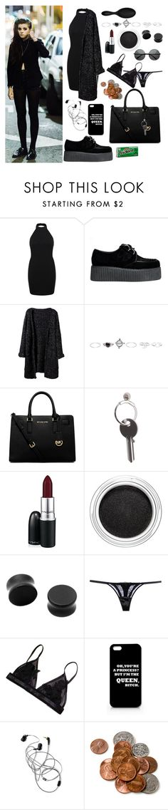 """""""date with lynn gunn"""" by pvriscvlt ❤ liked on Polyvore featuring Miss Selfridge, Wet Seal, MICHAEL Michael Kors, Maison Margiela, MAC Cosmetics, Clarins, John Richmond and Sephora Collection"""