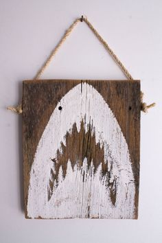 Shark Sign Decor on Reclaimed Distressed Wood Shark Week Jaws Decor Beach Surf Decor Beach Baby Coastal Surf Baby Nursery Kids Room Decor on Etsy, $55.00