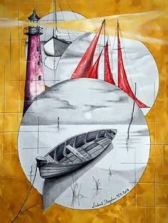 kresba tužkou,malba acrylem na papír ve formátu A3..... Luboš Dejdar