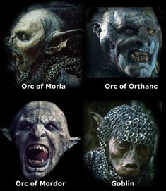 """""""Orc,"""" from the Anglo-Saxon """"orcyrs,"""" meaning a monster of hell. #orc #lotr"""
