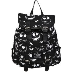The Nightmare Before Christmas Jack Slouch Backpack | Hot Topic (€29) ❤ liked on Polyvore featuring bags, backpacks, accessories, bolsas, hot topic backpacks, slouchy bags, hot topic bags, patterned backpacks and slouchy backpack