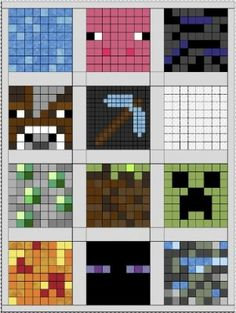 Minecraft Quilt Layout - this would be awesome for Brody :-)