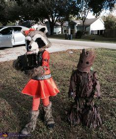 Groot and Rocket Kids - 2016 Halloween Costume Contest via @costume_works