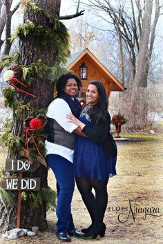 Lesbian weddings at the little log wedding chapel in niagara falls