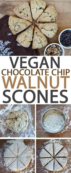 Wake up to this perfect vegan pastry: Chocolate Chip Walnut Scones. Click the photo for the full recipe.