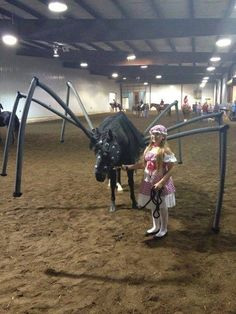 The absolute best Halloween horse costume of all time. I've never seen better!! A 15 on a 10 scale!!