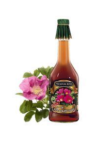 Syrop z płatków róż. Rose petal syrup. To niepowtarzalny aromat kwiatowy i słodki smak. Doskonały jako dodatek do herbaty. Przyciąga oryginalnym zapachem. Można stosować do sporządzania orzeźwiających napojów, aromatycznych nalewek i likierów. To także świetny sos do naleśników i innych wypieków.  Ten produkt możecie Państwo z powodzeniem stosować także w aromaterapii: przy nieżytach górnych dróg oddechowych, infekcjach bakteryjnych, astmie, chrypce. Cena: 20,00 zł. #Rose #RosePetals #Syrup Cordial, Hot Sauce Bottles, Aromatherapy