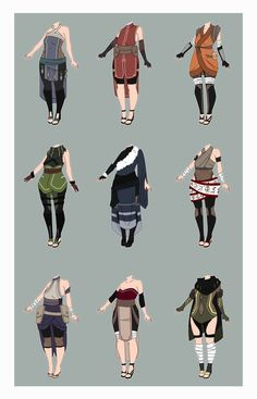 Naruto Outfit Adoptables [CLOSED] by xNoakix3 on DeviantArt