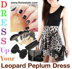 """""""Leopard Peplum Dress"""" by floriestyle on Polyvore"""
