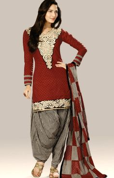 Brown Indian #SalwarKameez  Check out this page now :-http://www.ethnicwholesaler.com/salwar-kameez