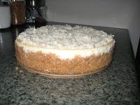 Coconut Cake Cheesecake By: Taste of the South (April*May 2011 issue)  Crust: 2 cups graham cracker crumbs 1 cup sweetened flaked coconu...
