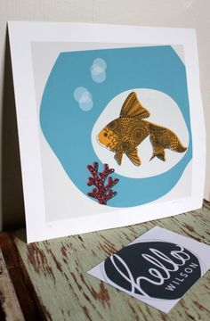 Hector the Goldfish by Hello Wilson