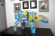 AT-AT Walker Made From Diaper BoxesOffbeat Mama - Make a nursery sculpture from diaper boxes!