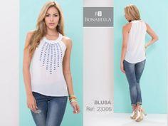 Los diseños con bordados siguen en su furor.  Precio Blusa: http://bonabella.com.co/producto/blusa-23305/