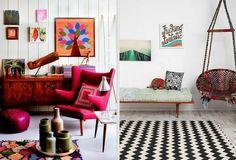 bohemian_mid_century_eclectic_mix_hanging_chair_boucherouite_rug_designloversblog