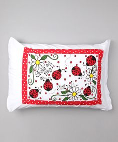 Another great find on #zulily! Ladybugs Personalized Standard Pillowcase #zulilyfinds