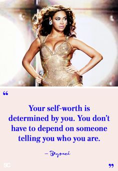 """""""your self-worth is determined by you. you don't have to depend on someone telling you who you are. Life Quotes Love, Girl Quotes, Woman Quotes, Quotes Women, Quote Life, Daily Quotes, True Quotes, Qoutes, Short I"""