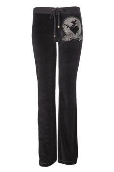 VELOUR PANT WITH RHINESTONES Velour Pants, Rhinestones, Sweatpants, Collection, Fashion, Moda, Fashion Styles, Fashion Illustrations, Gems