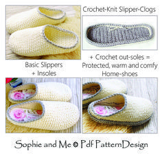 Most recent Photographs Crochet slippers clogs Tips Ravelry: Crochet-Knit Slipper-Clogs pattern by Sophie and Me-Ingunn Santini Crochet Sole, Crochet Slipper Pattern, Crochet Boots, Thread Crochet, Crochet Patterns, Crochet Ideas, Knit Crochet, Ravelry Crochet, Single Crochet Stitch