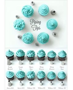 This is a great guide showing which type of tip you might need :) :) #cakedecoratingcourses #pipingtips #cupcakesrule