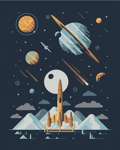 By @dkngstudios  #illustration #illustrator #art #poster #space #graphicdesign by illustree