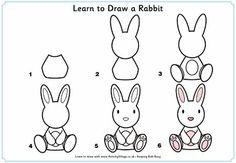 ¿Qué puedo hacer hoy?: Dibujos paso a paso: conejo: