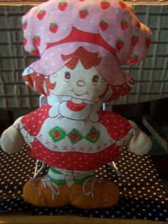 Vintage Starwberry Shortcake Stuffed Doll Pre by doyourememberwhen, $15.00