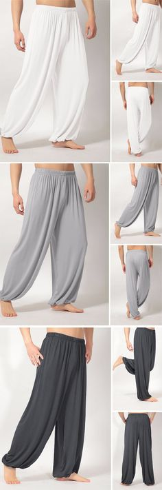 Mens Loose Yoga Pants / Morning Practice Sports Pants