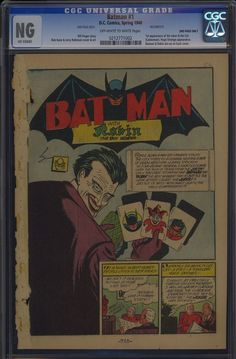 """See the One Comic Book Page That Sold for $660! Though the CGC gave it an """"NG"""" (No Grade) rating, this single page — from Batman #1, 1940 — sold for $660 on eBay, as it was the very first appearance of The Joker!"""