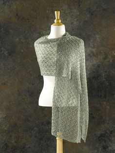 The Crocus Bud Shawl is striking! Yes, you can crochet lace and with a large hook so that you don't have to worry about searching for your stitches. Suitable for intermediate to advanced crocheters who are comfortable reading patterns and their work.