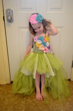My daughter Emma wearing the Garden Fairy tutu dress.