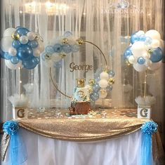 Baby Shower Balloons, Birthday Balloons, Baby Shower Parties, Baby Shower Themes, Baby Boy Shower, Baby Shower Decorations, Baby Showers, Shower Ideas, Balloon Centerpieces
