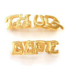 The Thug Life Grillz add a blend of hood to your smile, replacing traditional gold-plated grills with a top and bottom set to match with your lifestyle. And as with every grill pair, each includes a m