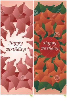 #Vector #illustration #Flower shaped #birthday #card on dreamstime
