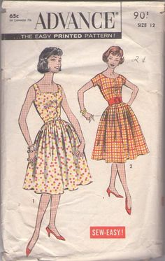 54059d34065f MOMSPatterns Vintage Sewing Patterns - Advance 9051 Vintage 50 s Sewing  Pattern SMASHING Sew Easy Rockabilly Mad