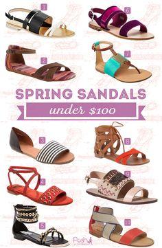Flat sandals for women under $100, great summer sandals all under $100.  @Madewell @STEVE MADDEN @Splendid @TOMS