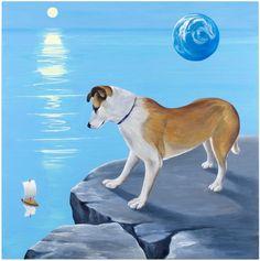 Risto Suomi: Koira rannalla (Royn muotokuva) Visual Arts, Animal Paintings, Dog Art, Finland, Artsy, My Favorite Things, Dogs, Animals, Straws