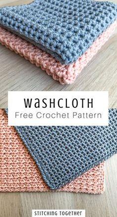 Bag Crochet, Manta Crochet, Crochet Gifts, Free Crochet, Crochet Stitches Free, Crochet Hooks, Knitted Washcloth Patterns, Easy Crochet Patterns, Knitting Patterns